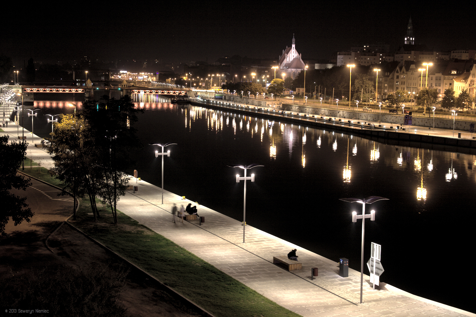 Nowy bulwar w Szczecinie